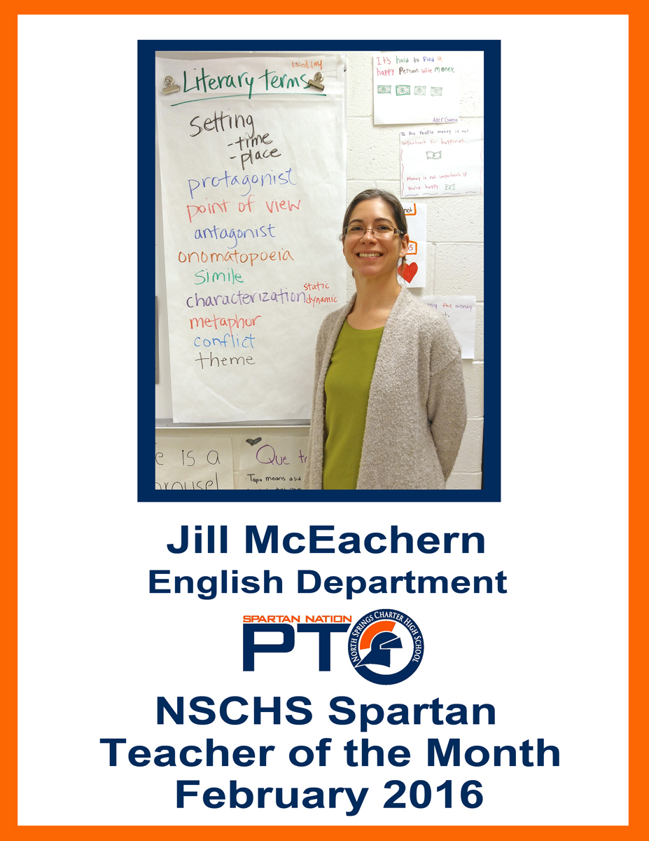 Teacher of the Month Feb 2016 McEachern