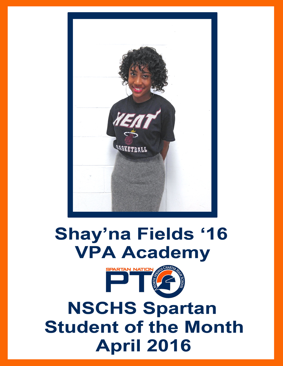 Student of the Month - April 2016 - Fields