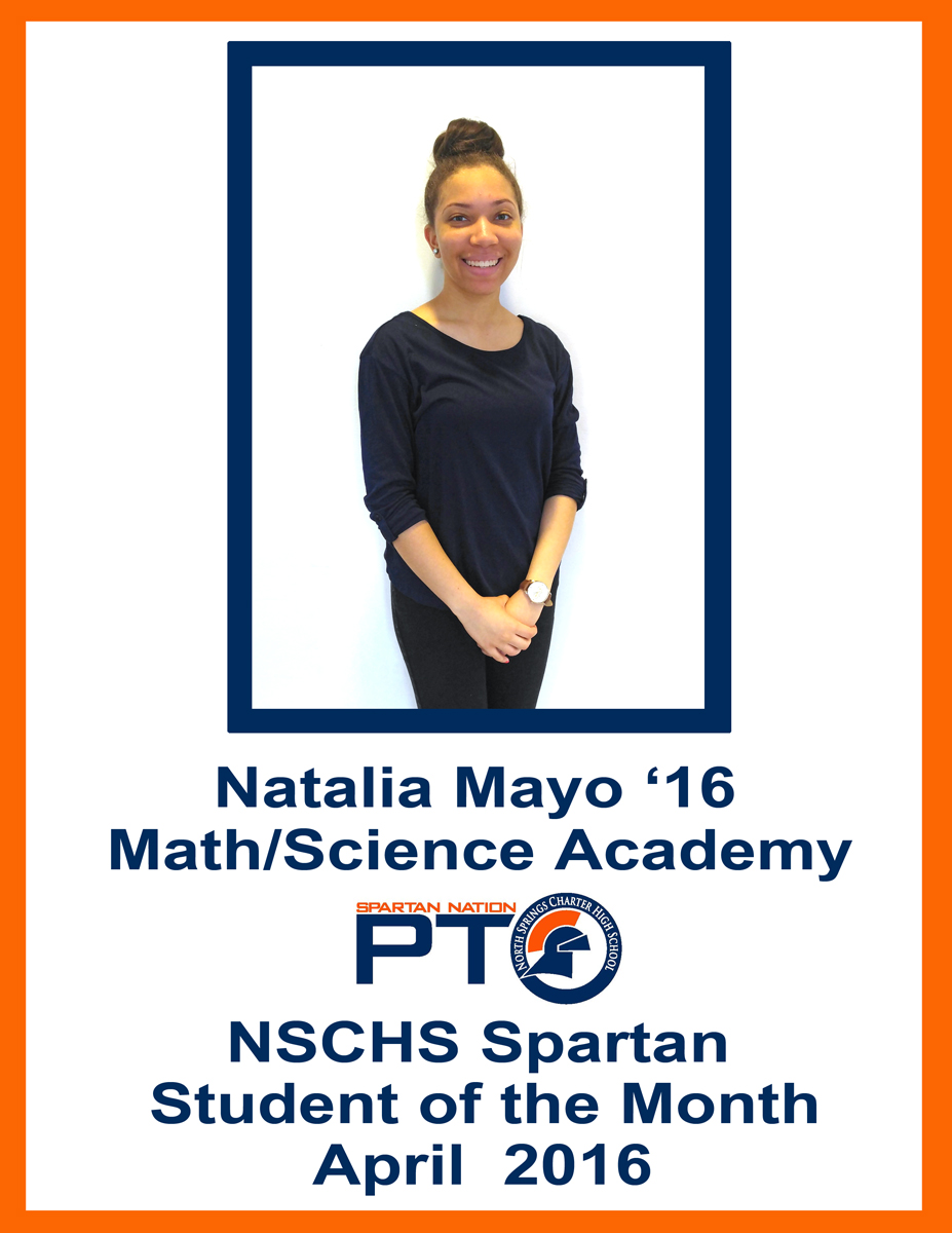 Student of the Month - April 2016 - Mayo